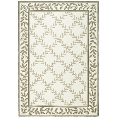 DuraArea Hand-Woven Rug Ivory/Sage Area Rug Rug Size: Rectangle 18 x 26
