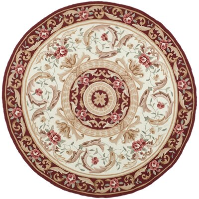 DuraArea Rug Ivory/Burgundy Area Rug Rug Size: Rectangle 4 x 6