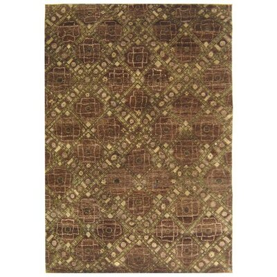 Castillian Brown / Tan Area Rug Rug Size: 6 x 9