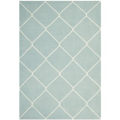 Dhurries Light Blue/Ivory Area Rug Rug Size: Rectangle 6 x 9