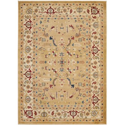 Austin Power Loom Synthetic Beige Area Rug Rug Size: Rectangle 4 x 57