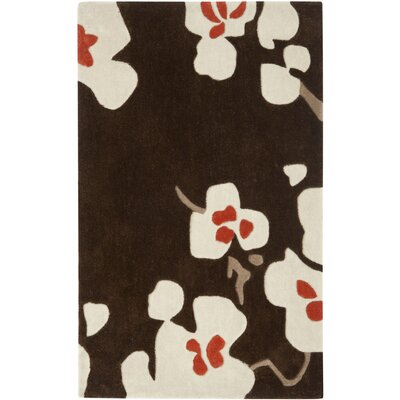 Modern Art Brown/Multi Rug Rug Size: Rectangle 26 x 4