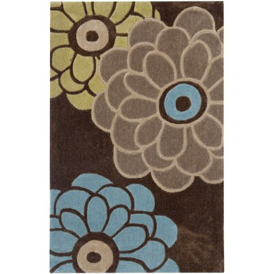 Modern Art Brown/Multi Rug Rug Size: 9 x 12