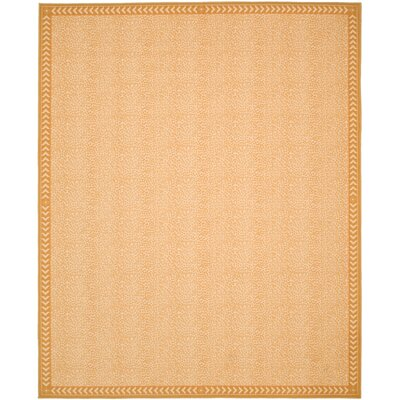 Metropolis Ivory/Gold Indoor/Outdoor Rug Rug Size: Rectangle 8 x 10
