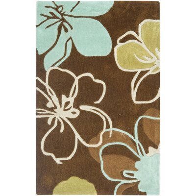 Modern Art Hand-Tufted Brown Area Rug Rug Size: Rectangle 26 x 4