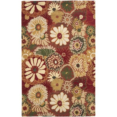 Jardin Rust / Multi Contemporary Rug Rug Size: Rectangle 8 x 10