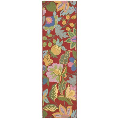 Jardin Red/Multi Rug Rug Size: Rectangle 8 x 10