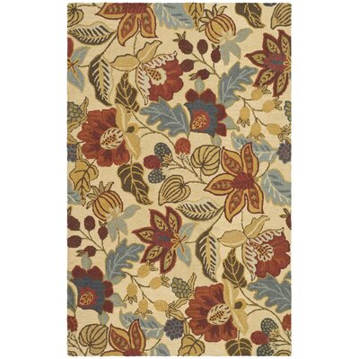 Jardin Beige/Multi Area Rug Rug Size: Rectangle 4 x 6