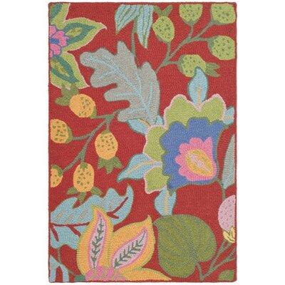 Jardin Red/Multi Rug Rug Size: 2 x 3