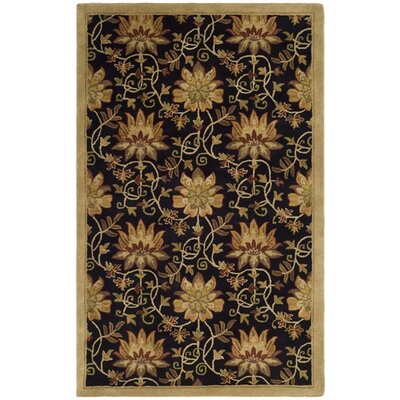Jardin Chocolate/Beige Area Rug Rug Size: Rectangle 5 x 8