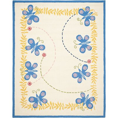Claro Butterfly Area Rug Rug Size: Rectangle 8 x 10