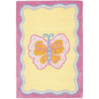 Claro Butterfly Center Area Rug Rug Size: Rectangle 2 x 3