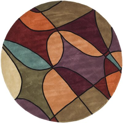 Rodeo Drive Assorted Contemporary Rug Rug Size: Round 5'9
