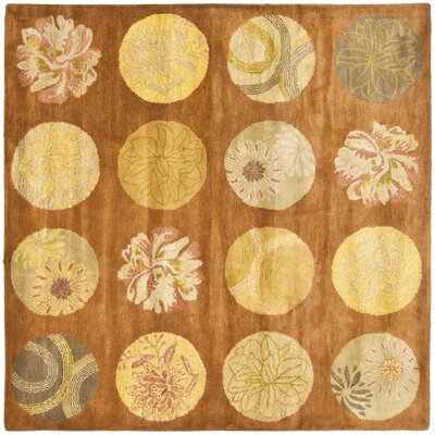 Rodeo Drive Light Brown Area Rug Rug Size: Square 6