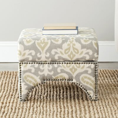 Declan Ottoman Upholstery: Light Grey / Off White