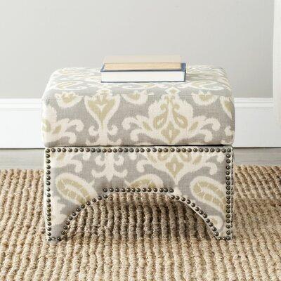 Declan Ottoman Upholstery: Light Grey / Off White