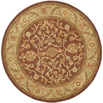 Golden Jaipur Gold/Rust Area Rug Rug Size: Round 6