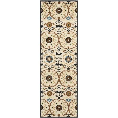 Soho Ivory Contemporary Rug Rug Size: Runner 26 x 8