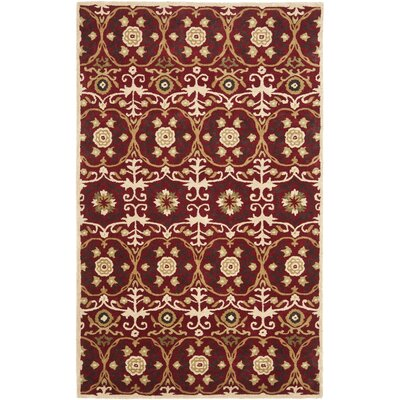 Soho Red / Multi Contemporary Rug Rug Size: Rectangle 76 x 96