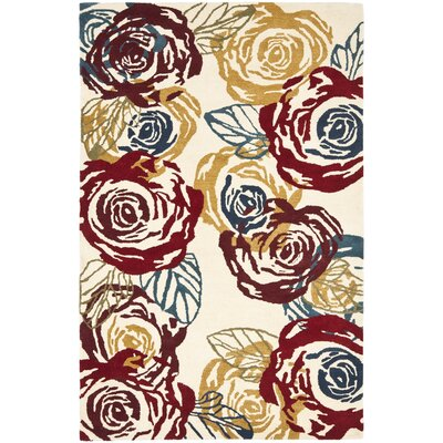 Soho Light Ivory / Multi Contemporary Rug Rug Size: Rectangle 36 x 56