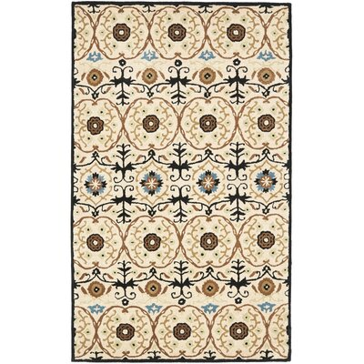Soho Ivory Contemporary Rug Rug Size: Rectangle 83 x 11