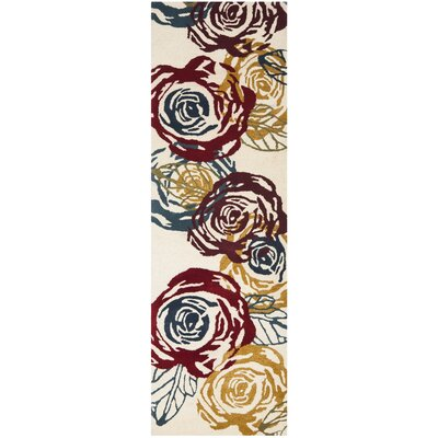 Soho Light Ivory / Multi Contemporary Rug Rug Size: Runner 26 x 8