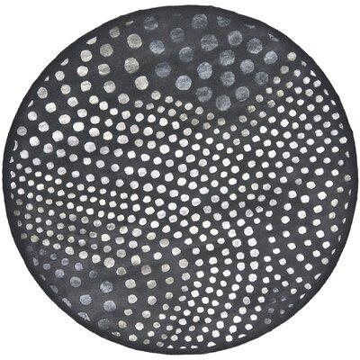 Soho Dark Gray Area Rug Rug Size: Round 8'