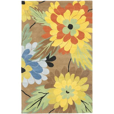 Soho Hand-Tufted Brown / Multi Contemporary Rug Rug Size: Rectangle 76 x 96