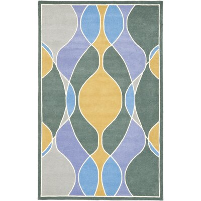 Soho Dark Multi Contemporary Rug Rug Size: 36 x 56