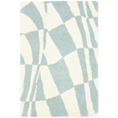 Soho Light Blue / Ivory Contemporary Rug Rug Size: Scatter / Novelty Shape 2 x 3