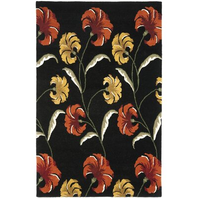 Soho Light Black / Multi Contemporary Rug Rug Size: 76 x 96