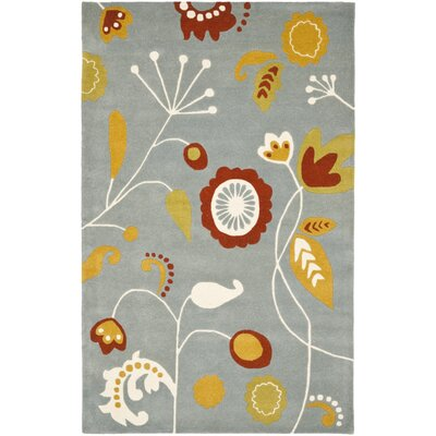 Soho Light Dark Blue / Multi Contemporary Rug Rug Size: 76 x 96
