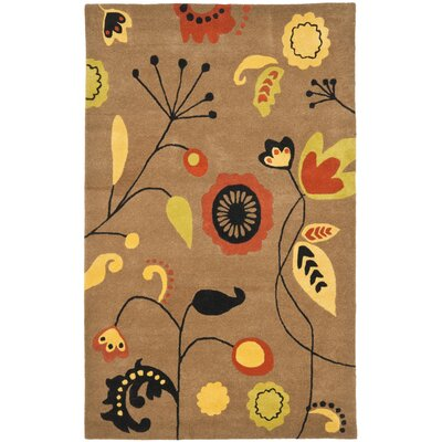 Soho Light Brown / Light Multi Contemporary Rug Rug Size: Rectangle 5 x 8