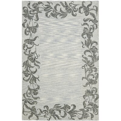 Soho Silver / Grey Contemporary Rug Rug Size: 36 x 56