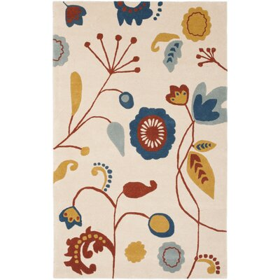 Soho Light Beige / Light Multi Contemporary Rug Rug Size: 76 x 96