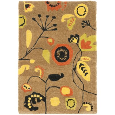 Soho Light Brown / Light Multi Contemporary Rug Rug Size: Scatter / Novelty Shape 2 x 3