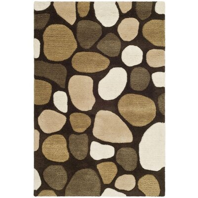 Soho Dark Brown Area Rug Rug Size: 2 x 3