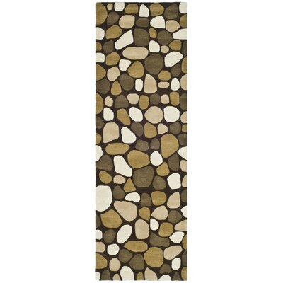 Soho Dark Brown Area Rug Rug Size: Runner 26 x 8