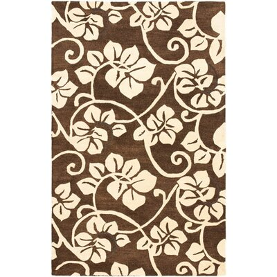 Soho Light Brown / Light Ivory Contemporary Rug Rug Size: 5 x 8