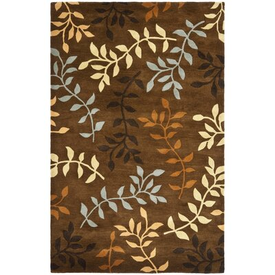 Soho Light Dark Brown / Light Multi Contemporary Rug Rug Size: 76 x 96