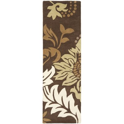 Soho Dark Brown / Light Multi Contemporary Rug Rug Size: Runner 26 x 12