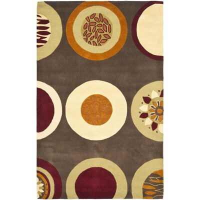 Soho Brown / Light Dark Multi Contemporary Rug Rug Size: 76 x 96