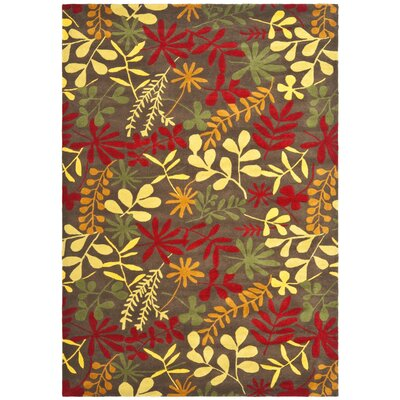 Soho Light Dark Brown / Multi Contemporary Rug Rug Size: 76 x 96