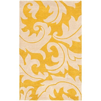 Soho Gold / Ivory Rug Rug Size: Rectangle 83 x 11