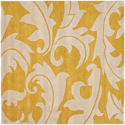 Soho Gold / Ivory Rug Rug Size: Square 8