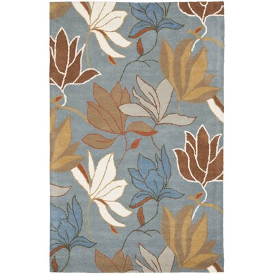 Soho Blue / Dark Light Multi Contemporary Rug Rug Size: 76 x 96
