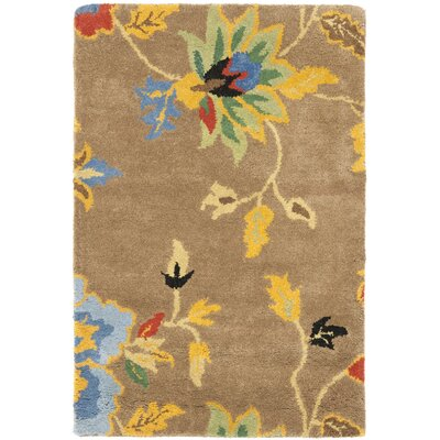 Soho Dark Light Brown / Multi Contemporary Rug Rug Size: Rectangle 2 x 3