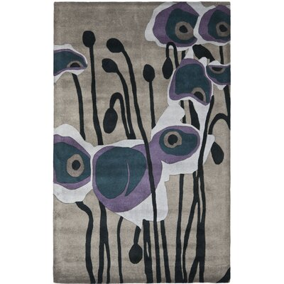 Soho Grey / Blue Contemporary Rug Rug Size: Rectangle 36 x 56