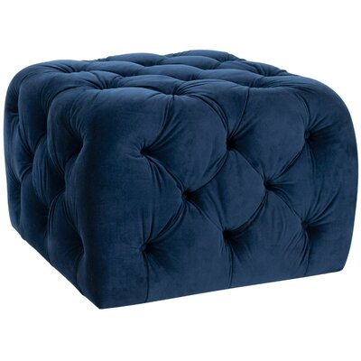 Kenan Ottoman Upholstery: Navy