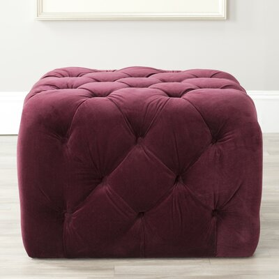 Stacie Cocktail Ottoman Upholstery: Bordeaux
